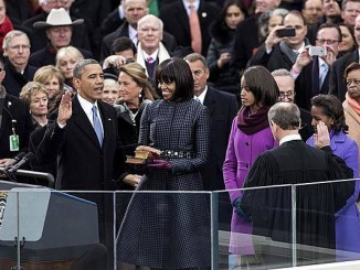 President Barack Obama's second swearing in