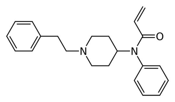 Structure of Acrylfentanyl