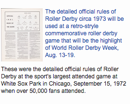 1973 Roller Derby Rules
