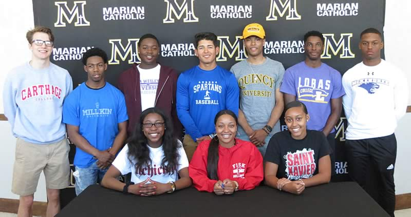 Marian Catholic athletes commit to colleges
