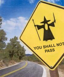Gandalf, you shall not pass, rsynist17