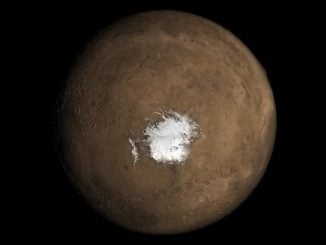 mars, water, ice cap