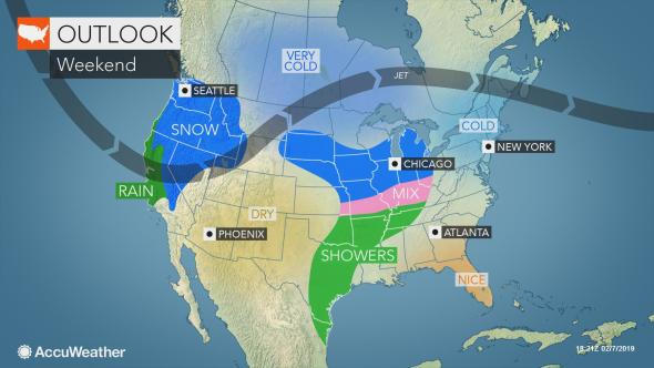 AccuWeather weekend outlook, Old Man Winter, multiple storms