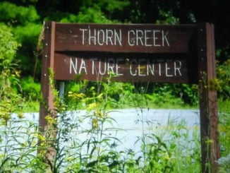 Thorn Creek Woods Nature Center sign